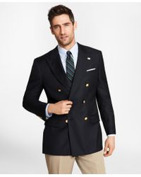 Brooks Brothers - Country Club Saxxon Wool Double-breasted Blazer - Lyst
