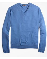 Brooks Brothers - Merino Wool V-neck Sweater - Lyst