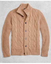 Brooks Brothers - Golden Fleece® 3-d Knit Camel Hair Cardigan - Lyst