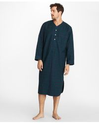 Brooks Brothers - Black Watch Flannel Nightshirt - Lyst