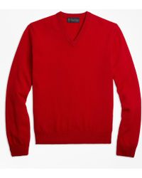 Brooks Brothers - V-neck Cashmere Sweater - Lyst