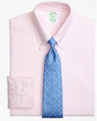Brooks Brothers - Original Polo® Button-down Oxford Milano Slim-fit Dress Shirt, Ground Stripe - Lyst