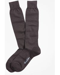 Brooks Brothers - Merino Wool Mini Dot Over-the-calf Socks - Lyst