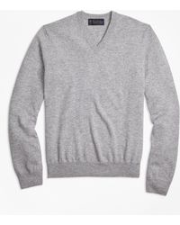Brooks Brothers | Two-ply Cashmere V-neck Sweater | Lyst