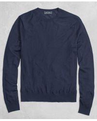 Brooks Brothers - Golden Fleece® 3-d Knit Fine Gauge Crewneck Sweater - Lyst