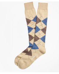 Brooks Brothers | Cotton Argyle Over-the-calf Socks | Lyst