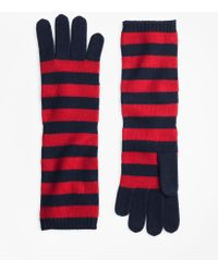 Brooks Brothers - Striped Wool Elbow-length Gloves - Lyst