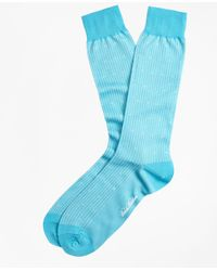 Brooks Brothers | Stripe Dot Crew Socks | Lyst