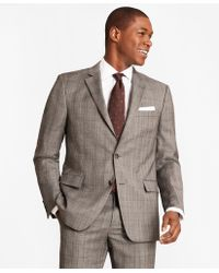 Brooks Brothers - Regent Fit Saxxontm Wool Grey Plaid 1818 Suit - Lyst