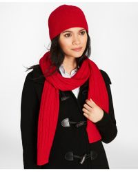 Brooks Brothers - Cable-knit Cashmere Scarf - Lyst
