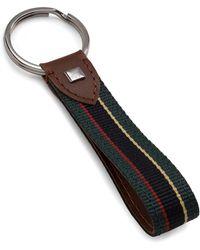 Brooks Brothers | Stripe Key Fob | Lyst