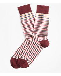 Brooks Brothers - Striped Crew Socks - Lyst