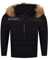 Mackage - Black Fur Hooded Puffer Jacket - Lyst