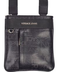 Lyst - Versace Jeans Ee1yrbb21 Black Messenger in Black for Men 26ea7cccd1f56
