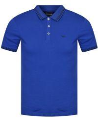 Emporio Armani - Blue Logo Polo Shirt - Lyst