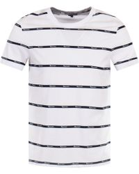 Aquascutum - Branded Stripe T-shirt - Lyst