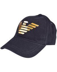Emporio Armani - Navy/gold Eagle Baseball Cap - Lyst