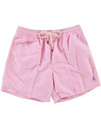 Polo Ralph Lauren - Pink/blue Swimshorts - Lyst