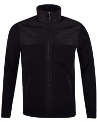 Michael Kors - Black Nylon Zip Through Knitted Jumper - Lyst