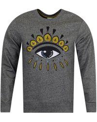 KENZO - Anthracite Grey/gold Eye Logo Sweatshirt - Lyst