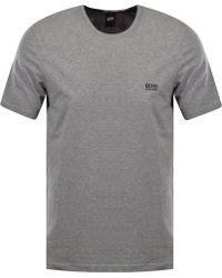 BOSS - Hugo Grey Logo T-shirt - Lyst