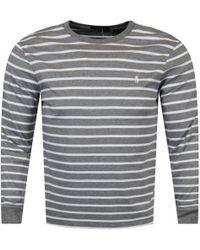 Polo Ralph Lauren - Grey Striped T-shirt - Lyst