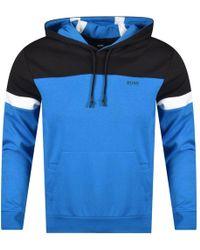 BOSS Athleisure - Black/blue Pullover Drawstring Sweatshirt - Lyst
