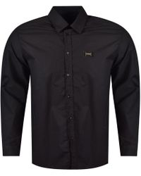Love Moschino - Black Long Sleeved Button Shirt - Lyst