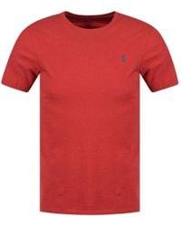 Polo Ralph Lauren - Red Heather Crew Neck T-shirt - Lyst