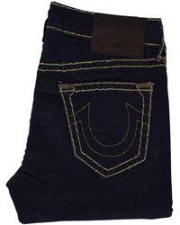 True Religion - Geno Relaxed Slim Dark Blue Jeans - Lyst