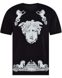 Versace - Medusa Baroque Placement Print Tee - Lyst