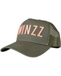 TWINZZ - Olive / Coral Mesh Trucker Cap - Lyst