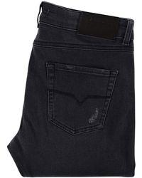 Versace - Grey Distressed Skinny Jeans - Lyst
