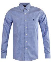 Polo Ralph Lauren Blue Check Long Sleeve Shirt