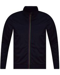 PS by Paul Smith - Navy Nylon Track Top - Lyst