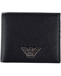 Emporio Armani - Black Metal Eagle Wallet - Lyst