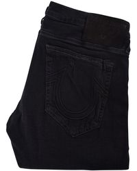True Religion - Black Distressed Rocco Skinny Jeans - Lyst