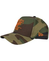Fresh Ego Kid - Camo/orange Logo Baseball Cap - Lyst