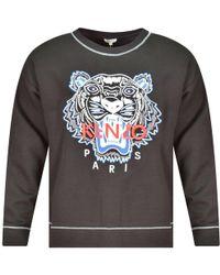 KENZO - Black Tiger Logo Sweatshirt - Lyst