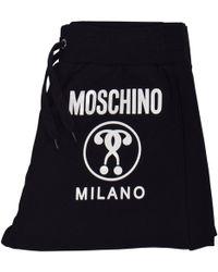 Moschino Black/white Milano Shorts Sweatpants