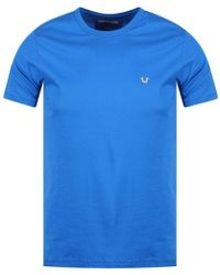 True Religion - Blue Metal Horseshoe T-shirt - Lyst