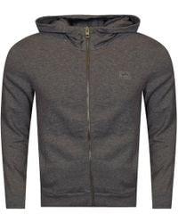 BOSS Orange - Light Grey Logo Hoodie - Lyst