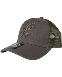 Fresh Ego Kid - Grey/khaki Mesh Trucker Cap - Lyst