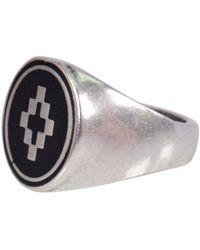 Marcelo Burlon - Silver Cross Ring - Lyst