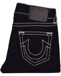 True Religion - Midnight Black/white Rocco Relaxed Skinny Jeans - Lyst