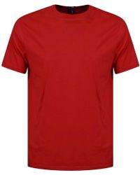 Versus - Red Oversized Tab Text T-shirt - Lyst