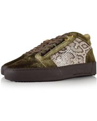 Android Homme - Mid Propulsion Green/brown Scale Trainers - Lyst