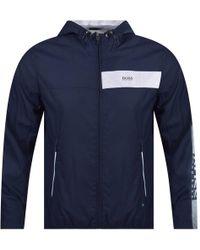 BOSS Athleisure - Navy Jeltech Lightweight Jacket - Lyst