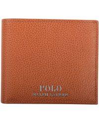 Polo Ralph Lauren - Tan Grained Leather Wallet - Lyst