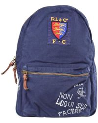 Lyst - Polo Ralph Lauren Big Pony Canvas Backpack in Green for Men c922d114eb2cf